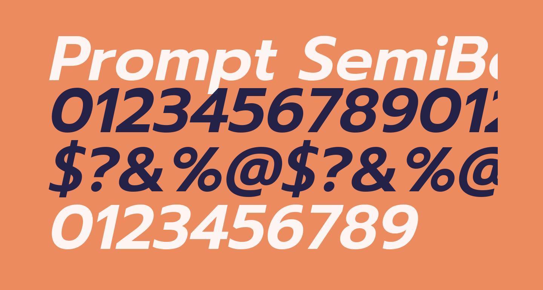 Prompt SemiBold Italic