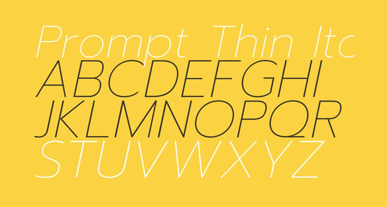Prompt Thin Italic