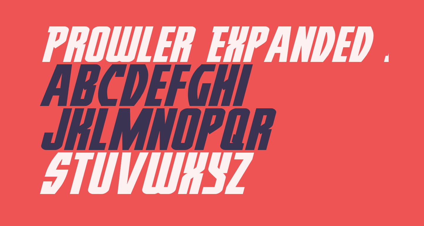 Prowler Expanded Italic