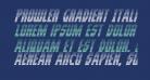 Prowler Gradient Italic