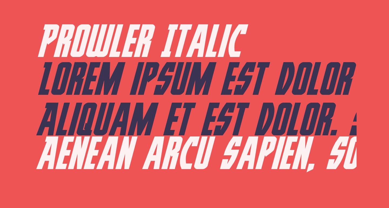 Prowler Italic
