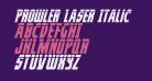 Prowler Laser Italic
