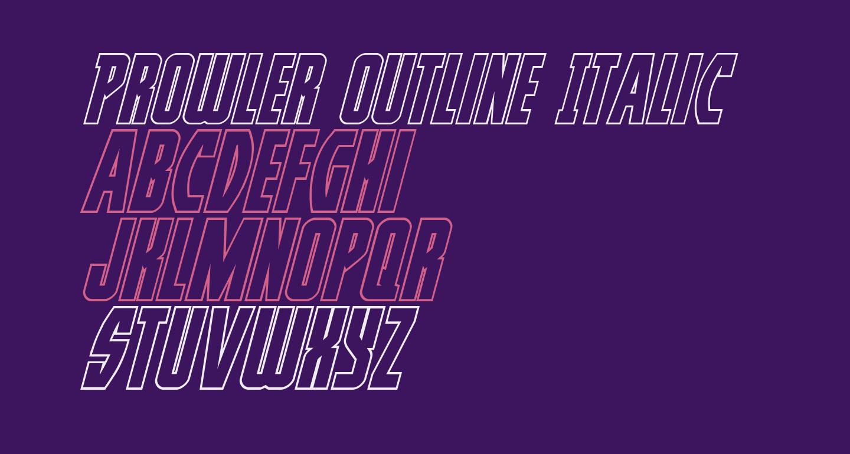 Prowler Outline Italic