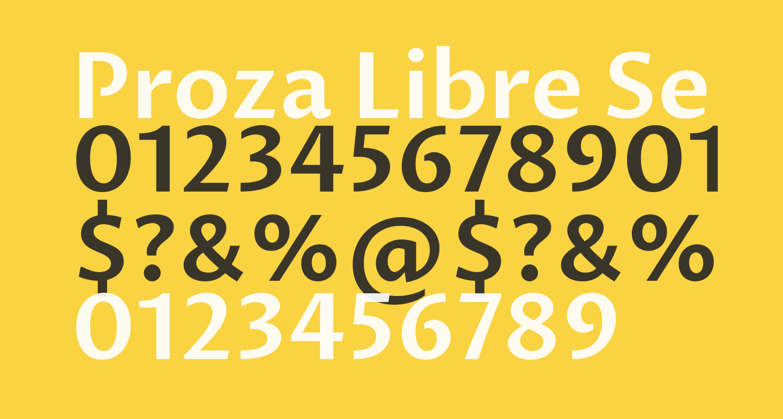 Proza Libre SemiBold