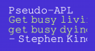 Pseudo-APL