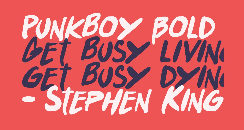 Punkboy Bold Italic