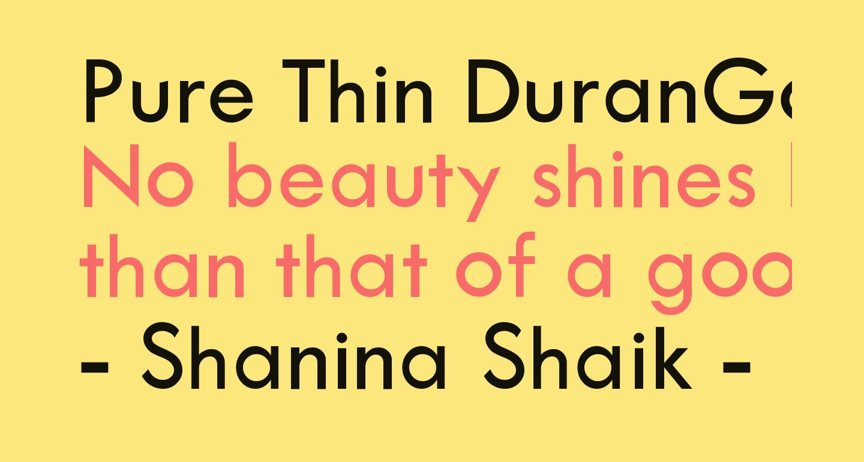 Pure Thin DuranGo