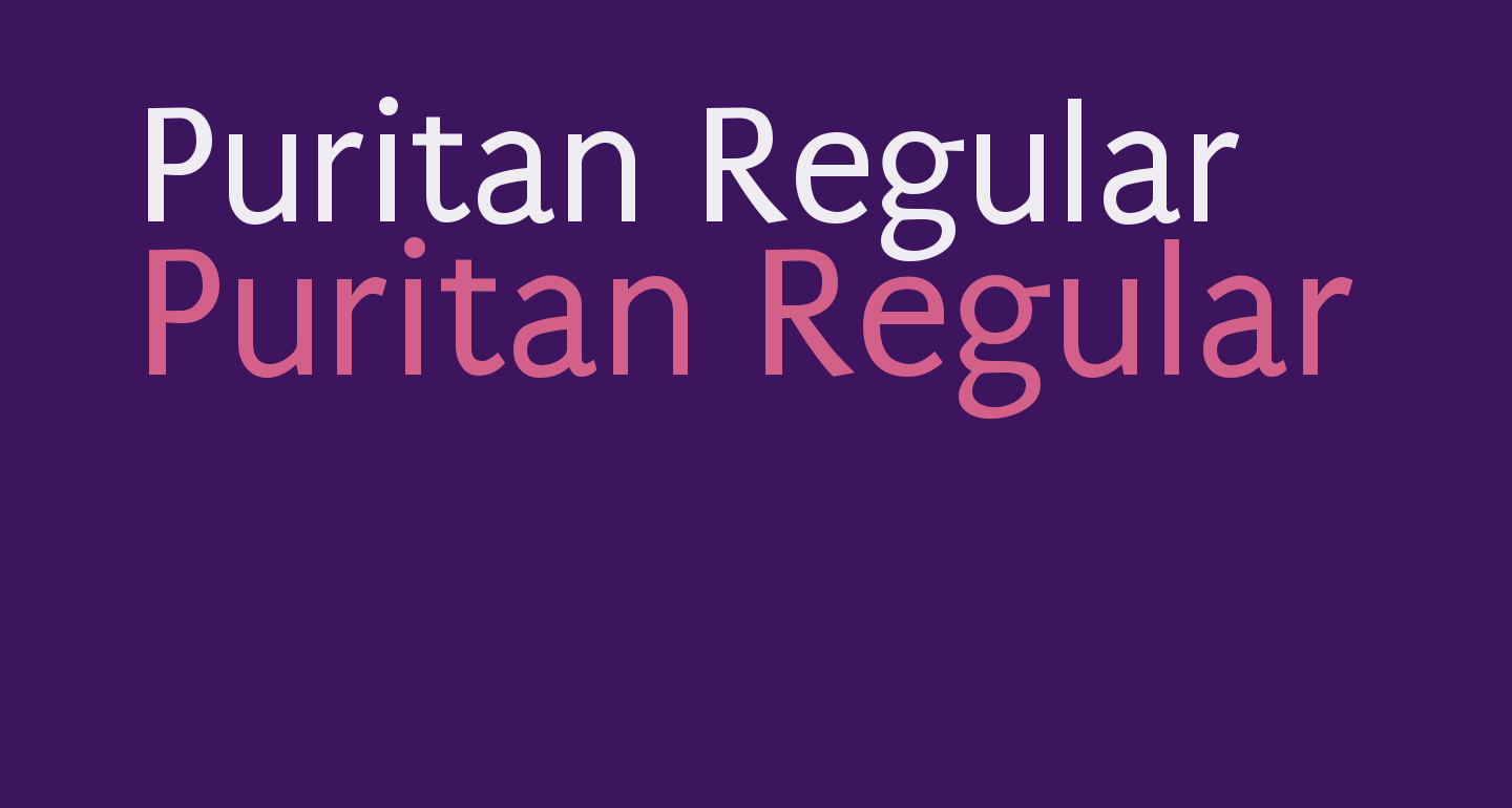 Puritan Regular