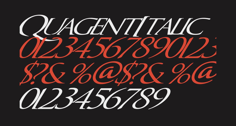 QuagentItalic