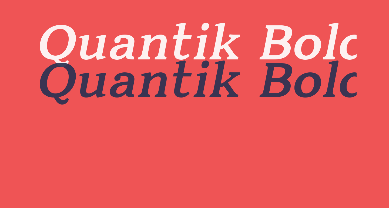 Quantik Bold-Italic