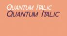 Quantum Italic