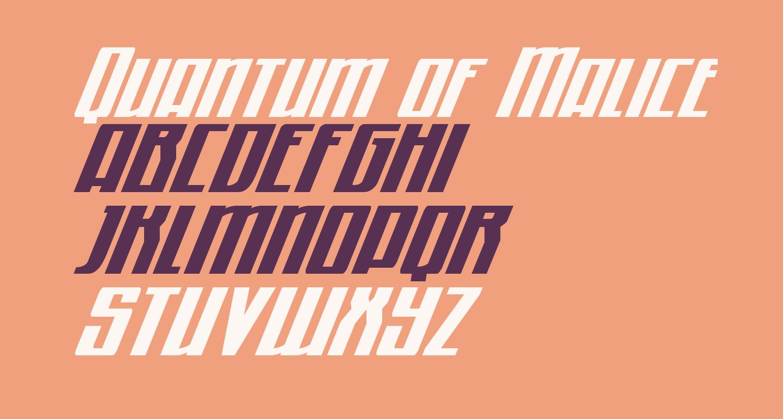 Quantum of Malice Condensed Italic
