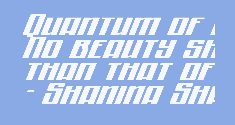 Quantum of Malice Expanded Italic