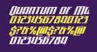 Quantum of Malice Half-Drop Italic