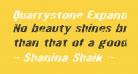 Quarrystone Expanded Italic