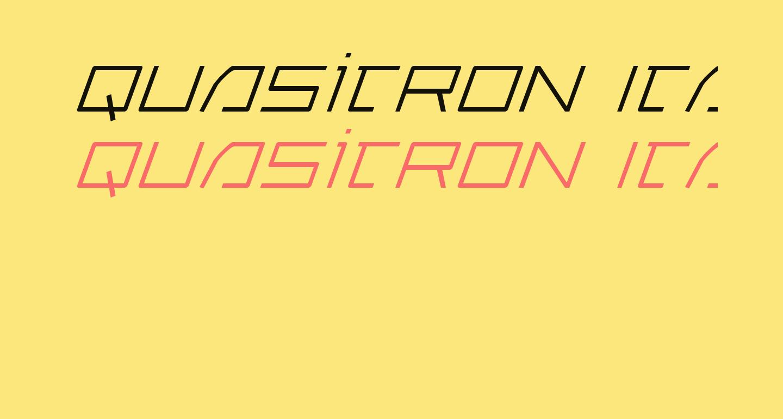 Quasitron Italic