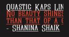 Quastic Kaps Line