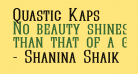 Quastic Kaps