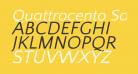 Quattrocento Sans Italic