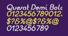 Quesat Demi Bold Demo Italic