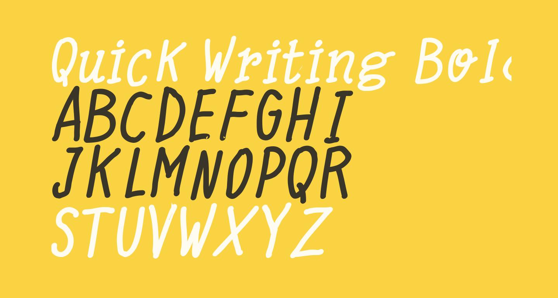 Quick Writing Bold Italic