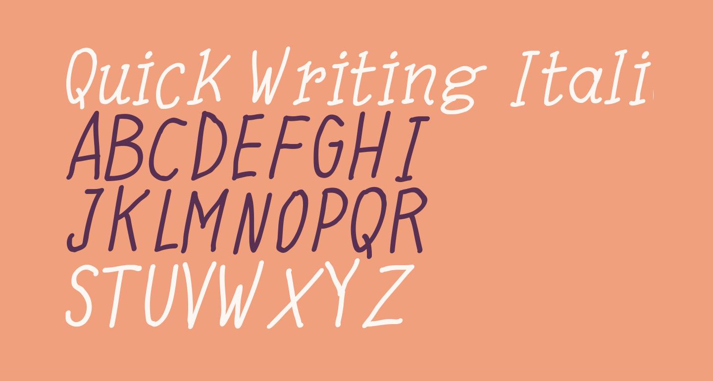 Quick Writing Italic