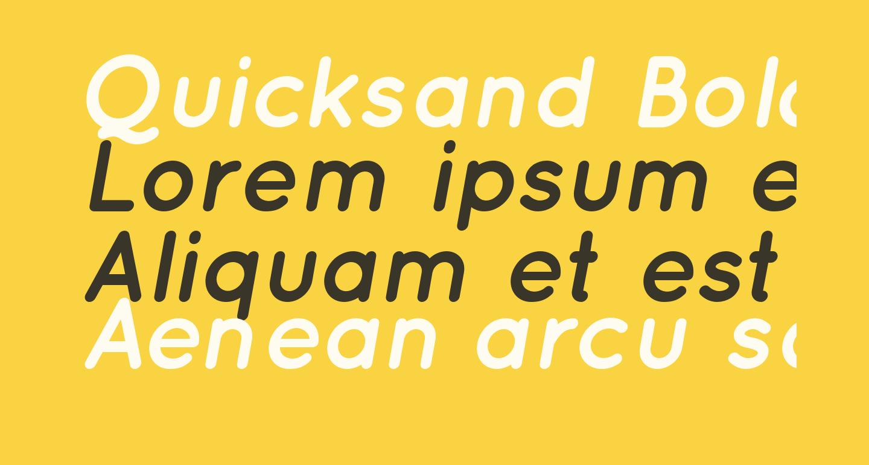 Quicksand Bold Oblique Regular