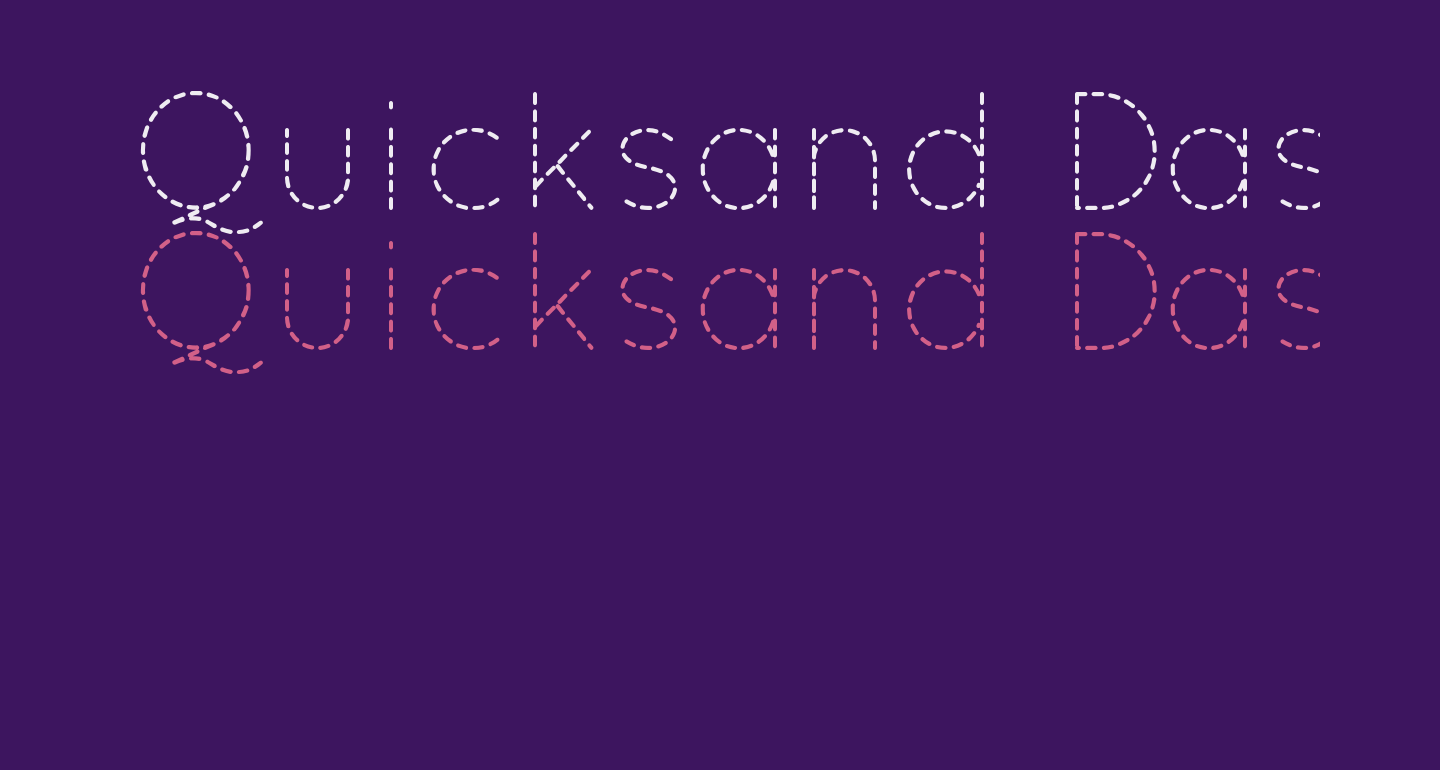 Quicksand Dash Regular