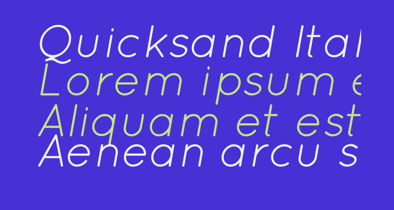 Quicksand Italic