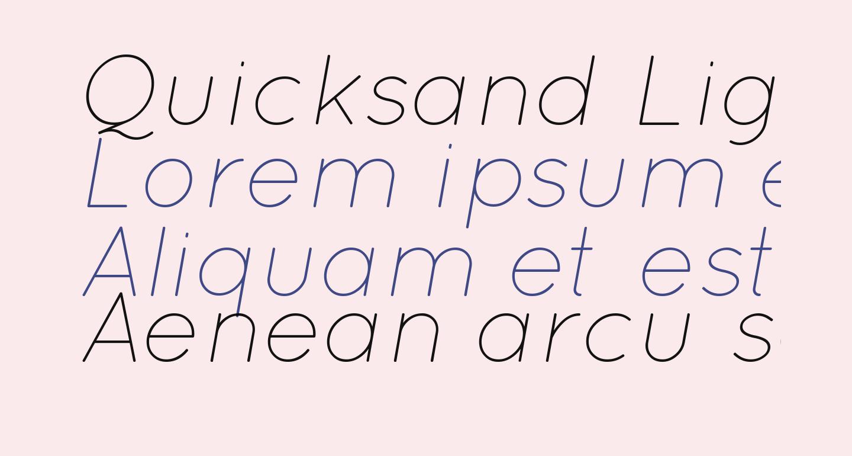 Quicksand Light Italic