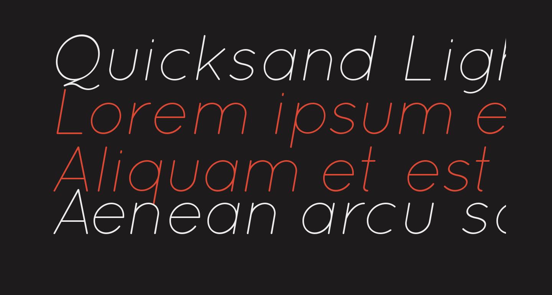 Quicksand Light Oblique Regular