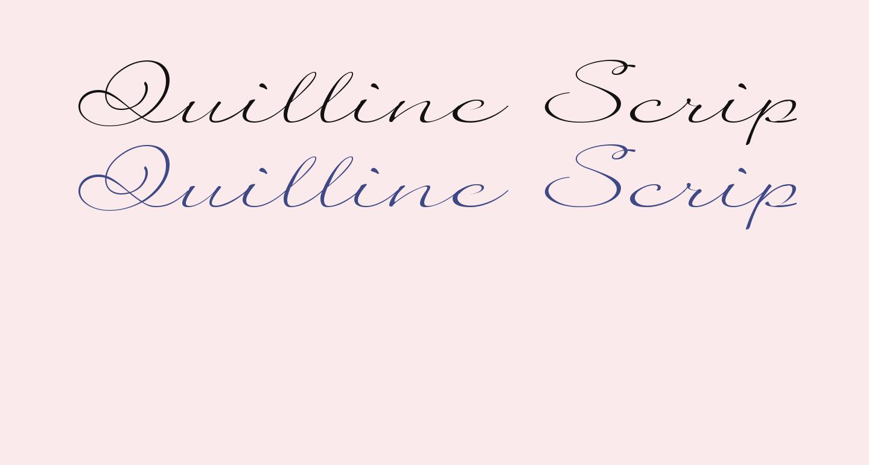 Quilline Script Thin