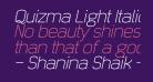 Quizma Light Italic Demo