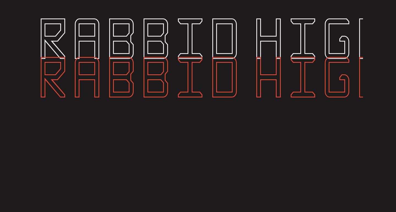 Rabbid Highway Sign Caps Narrow Outline