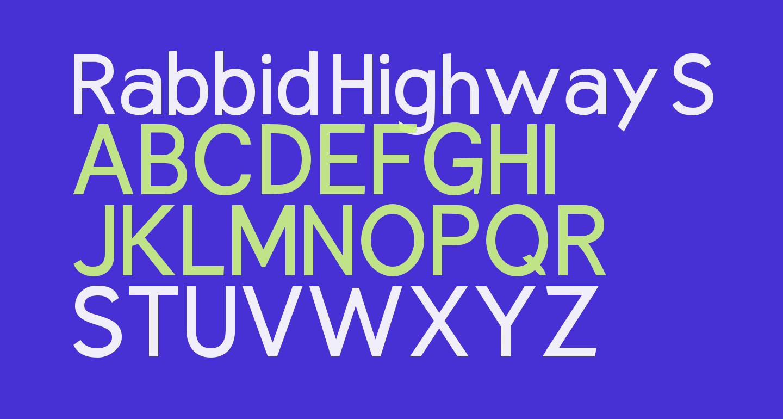 Rabbid Highway Sign VII