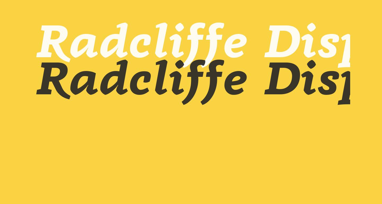 Radcliffe Display Bold Italic