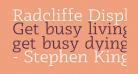 Radcliffe Display Book
