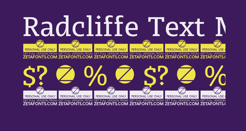 Radcliffe Text Medium