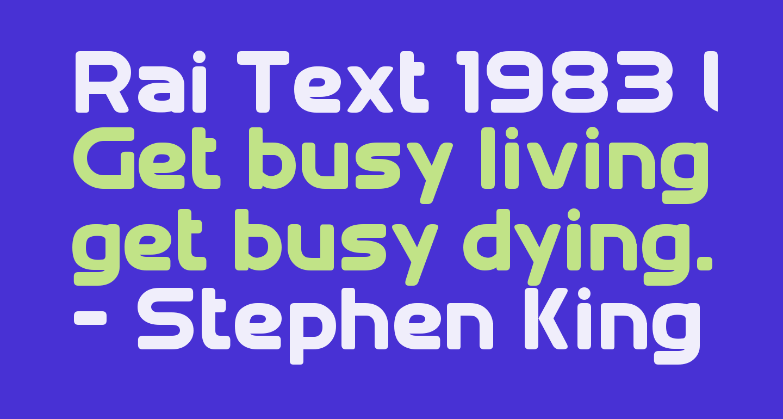 Rai Text 1983 Lowercase