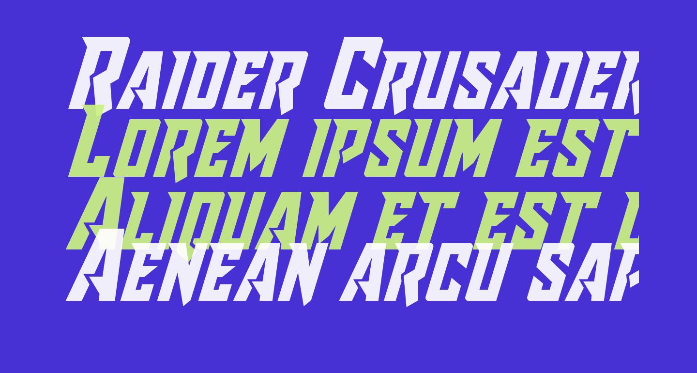 Raider Crusader Shift Up