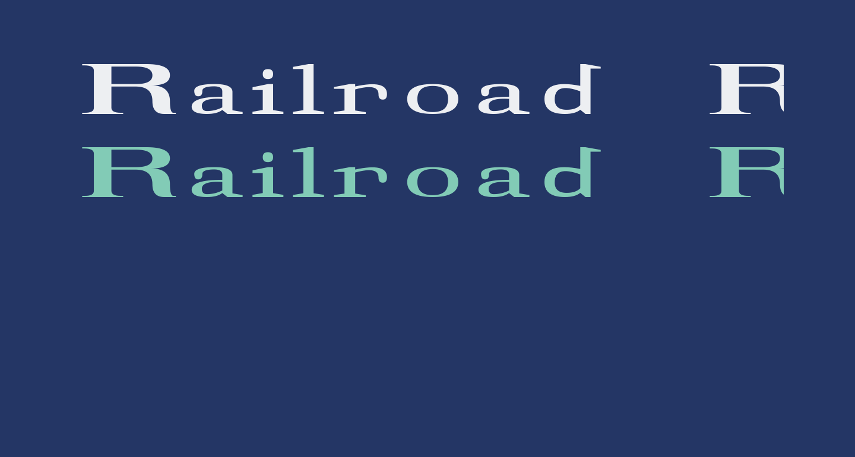 Railroad Roman 1916 Normal