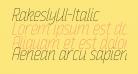 RakeslyUl-Italic