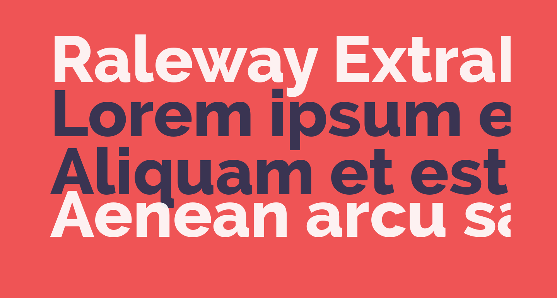 Raleway ExtraBold