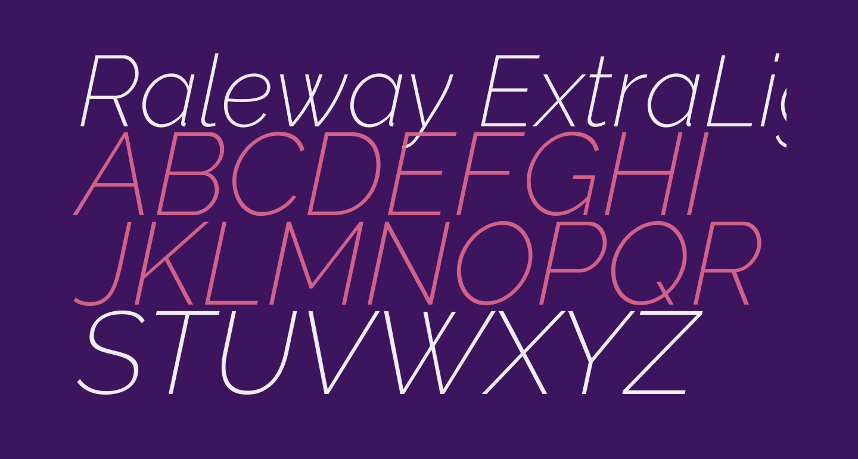 Raleway ExtraLight Italic