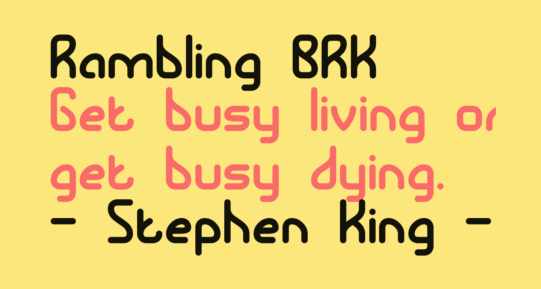 Rambling BRK