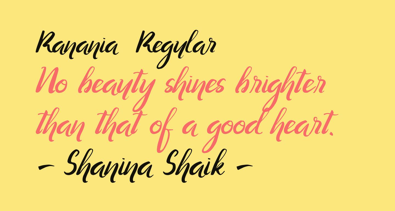 Ranania  Regular