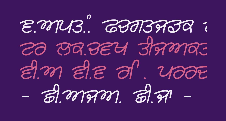 Rangsaaz cursive rimington