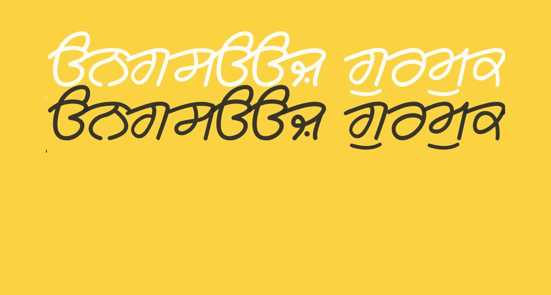 Rangsaaz gurmukhi cursive roman