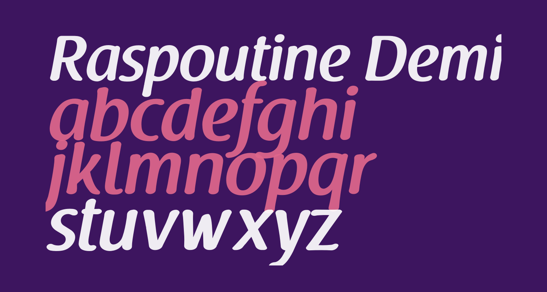 Raspoutine DemiBold Italic
