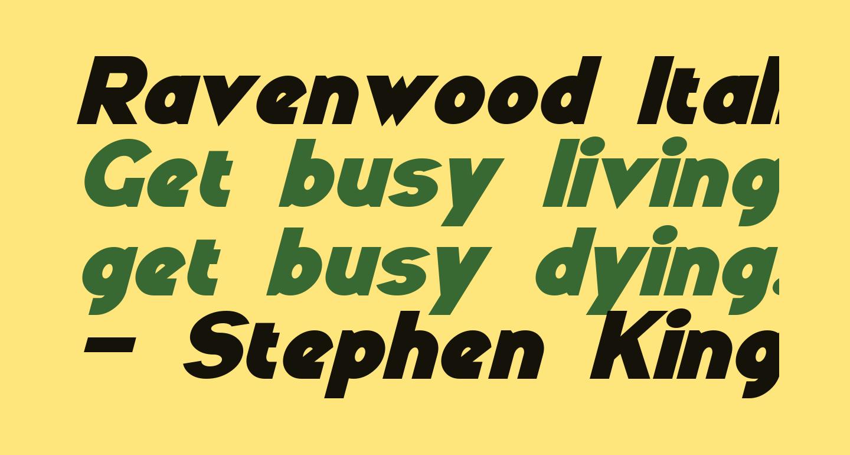 Ravenwood Italic